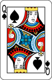 Queen of spades from deck of playing cards poster
