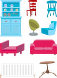 selection of furniture. poster