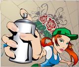 Fototapety  Graffiti Girl