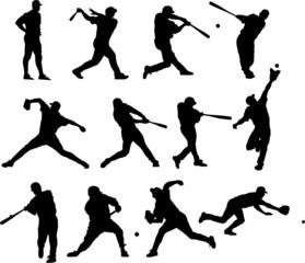 Sport silhouette - baseball players