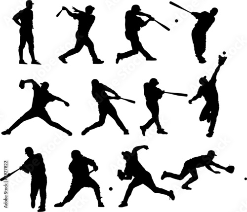 Sport silhouette - baseball players