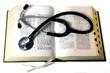 Stethoscope on medical book 3