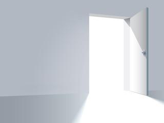 An open door, a way to freedom