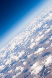 Aerial view of clouds poster
