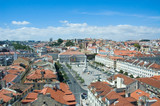 panoramic view of central lisbon poster