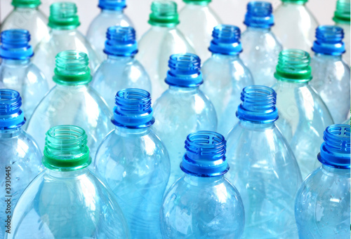 canvas print picture Empty water bottles