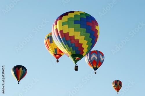 Foto Spatwand Ballon Colorful hot air balloons