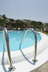 luxury hotel swimming pool greek islands mykonos