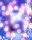 Blurred christmas lights with sparkles poster