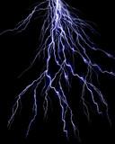 Lightning flash on black background poster