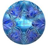 Blue sapphire closeup poster
