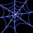 Glowing spider web