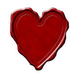Blank heart shaped wax seal poster