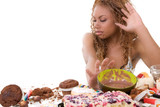Black woman pushing away all the food
