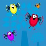 funky bird background