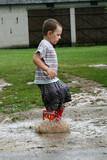 mud puddle boy poster