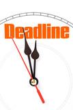 clock face, concept of deadline poster