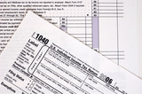 A US income tax form. poster