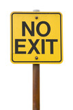 No Exit Sign with white Background poster