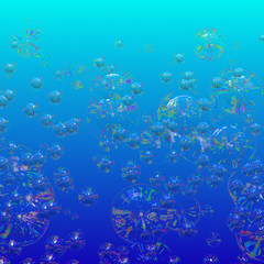 Clear underwater bubbles for background