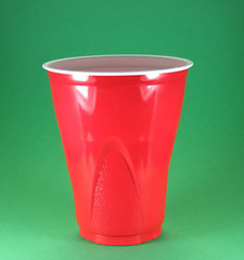 party picnic and celebration disposable red plastic cups