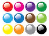 Round Glossy Buttons poster