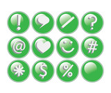 Glossy Green Buttons poster