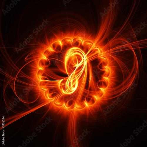 Leinwanddruck Bild fire chaos rays