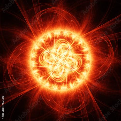 Leinwandbild Motiv fire chaos rays