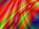 Fractal rendition of a colorful metal shining near water poster