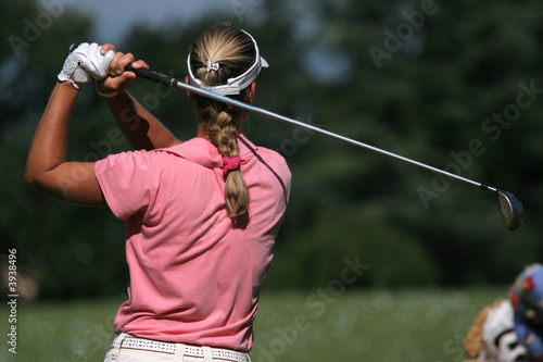 lady golf swing