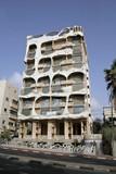 gaudi style building in tel aviv, israel poster