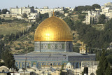 golden dome mosque in jerusalem poster