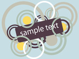 Vector sign for text purposes. Grunge effect. poster