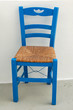 Blue Chair on Greek Patio