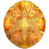Cut amber precious stone poster