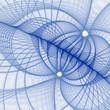 fractal web rendering on white