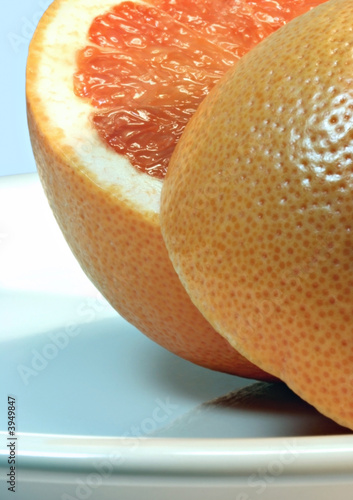 Grapefruit on Plate