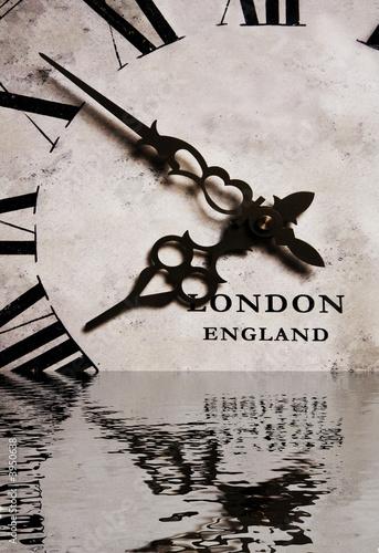 Antique Clock in Water