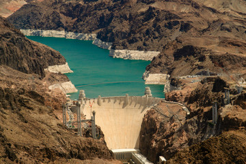 Aerial View Hoover Dam