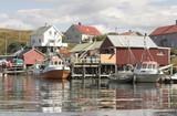 Norwegian fishing boat.  poster