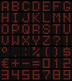 dot-matrix font poster