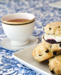 Afternoon tea, scones and jam