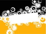 Orange text copyspace poster