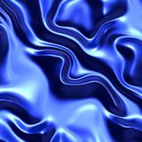 Blue wrinkled satin poster