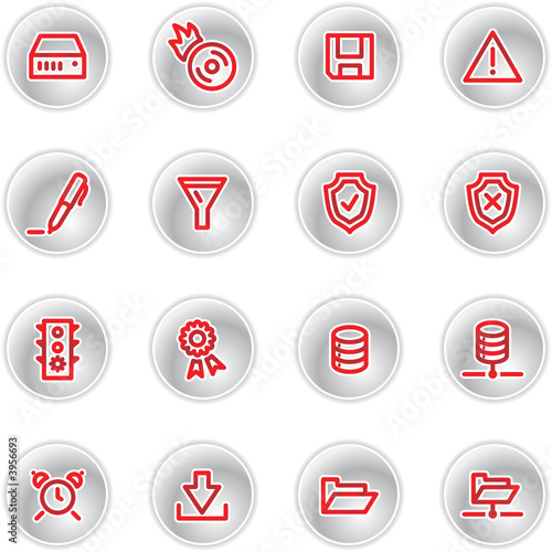 poster of red server icons