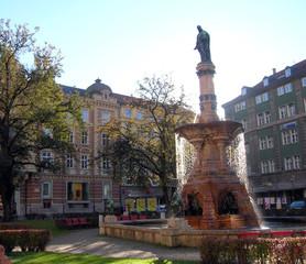 Innsbruck: fontana di Rodolfo IV