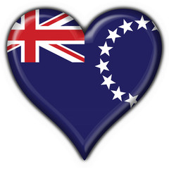bottone cuore bandiera cook island - heart button flag
