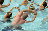 Aerobic in pool poster