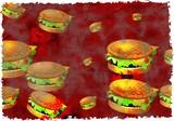 grunge burgers poster